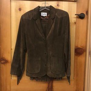 Maxima Suede Fringe Skirt & Jacket
